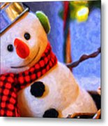 Holiday Snowman Metal Print