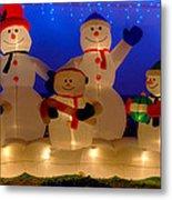 Holiday Snowmen 2 Metal Print