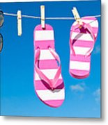 Holiday Washing Line Metal Print