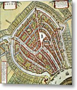 Holland: Gouda Plan, 1649 Metal Print