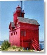 Holland Harbor And Big Red Metal Print