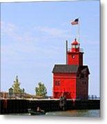 Holland Harbor Lighthouse Metal Print