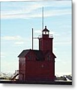 Holland Harbor Lighthouse Metal Print by Jennifer  King