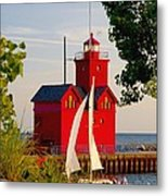 Holland Lighthouse Metal Print