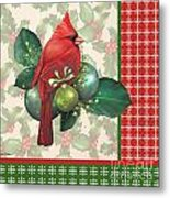 Holly And Berries-d Metal Print