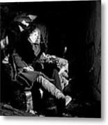 Holly In Chair 1980 Metal Print