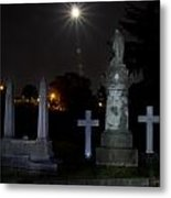 Hollywood Cemetery Moon Burst Metal Print