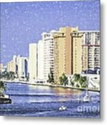 Hollywood In Florida Metal Print
