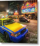 Hollywood Taxi Metal Print