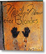 Hollywood Walk Of Fame Marilyn Monroe 5d29023 Metal Print