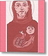 Holy Anthony Of Padua Metal Print