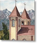 Holy Family Catholic Church In Fort Garland Colorado Metal Print
