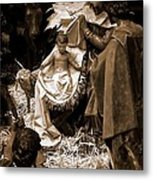 Holy Family Nativity - Color Monochrome Metal Print
