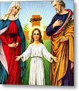 Holy Family With Cross Metal Print