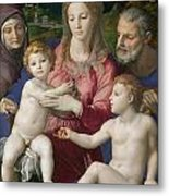 Holy Family With St. Anne And The Infant St. John Metal Print