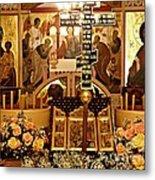 Holy Saturday At St Mary Magdalen Church 2 Metal Print by Sarah Loft