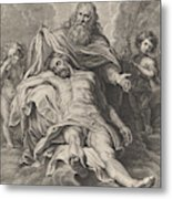 Holy Trinity And Angels With Instruments Of The Passion Metal Print