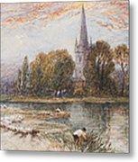 Holy Trinity Church On The Banks If The River Avon Stratford Upon Avon Metal Print
