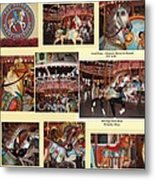 Holyoke Carousel Collage Metal Print