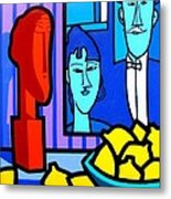 Homage To Modigliani Metal Print