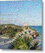 Homage To Vincent Had He Only Seen Cozumel II Metal Print by Judy Paleologos