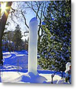 Homage To Winter In The City Metal Print