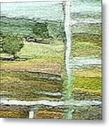 Home Alone As A  Patchwork Quilt Metal Print