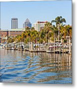 Home And Water And City Metal Print