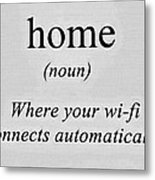 Home And Wifi Metal Print