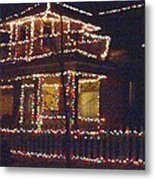 Home Holiday Lights 2011 Metal Print by Feile Case