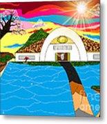 Home In Paradise Metal Print by Lewanda Laboy