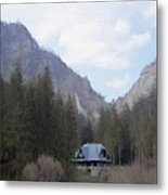 Home In The Mountains Metal Print