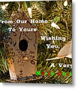 Home In The Tree W Text Metal Print