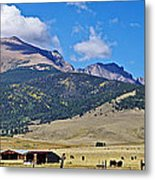 Home On The Range - A Westcliffe Ranch Metal Print