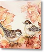 Home Sparrows Metal Print