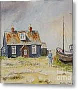 Home Sweet Home Dungeness Metal Print