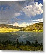 Homeground Rainbow Landscape Metal Print