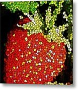 Homegrown Strawberry Mosaic Metal Print