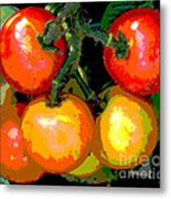 Homegrown Tomatoes Metal Print by Annette Allman