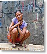 Homeless In Indonesia Metal Print