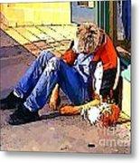 Homeless In Seattle Metal Print