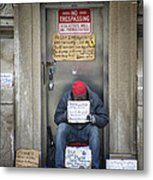 Homeless In The Usa Metal Print