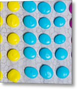 Homemade Candy Dots Metal Print
