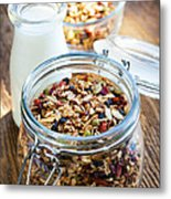 Homemade Toasted Granola Metal Print