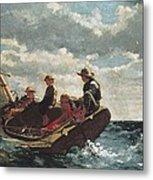 Homer, Winslow 1830-1910. Breezing Up A Metal Print