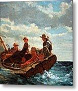 Homer's Breezing Up -- A Fair Wind Metal Print