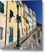 Homes In Bogliasco Metal Print
