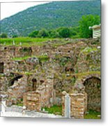 Homes Of The Rich In Central Ephesus-turkey Metal Print