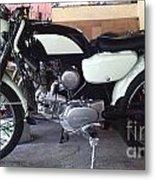 Honda Benley S110 Cafe Racer 1975 Restored Metal Print