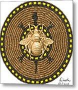 Honey Bee Turtle Metal Print